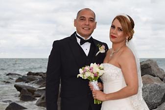 Emirna & Felix Beach Wedding in Miami