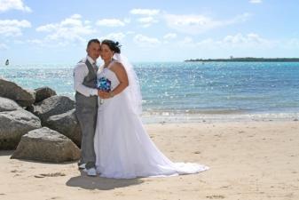 Laura & Alain Key Biscayne Beach Wedding