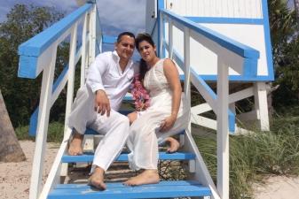 Taylen & Julian Key Biscayne Beach Wedding