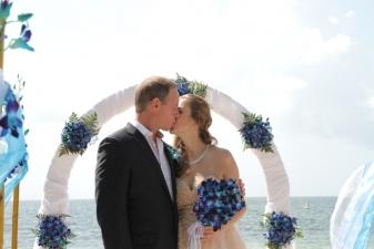 Tetiana & William Key Biscayne Beach Wedding