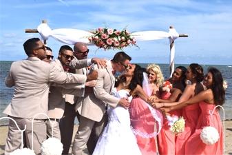 Jessica & Daniel Beach Wedding Miami